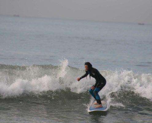 Spot de surf à Agadir